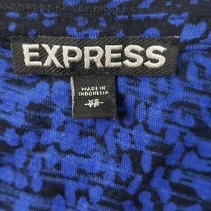 Express Dresses - EXPRESS royal blue black cotton mini dress size XS